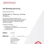 Zertifikat Hilti-Schulung
